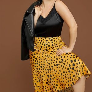 R29 X Eloquii Printed Satin Column Skirt